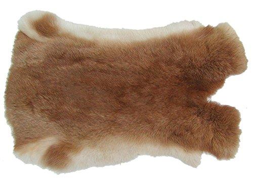 Ensuite Kaninchenfelle fuchsrot naturfarben, ca. 30x30 cm, Felle vom Kaninchen mit seidigem Haar