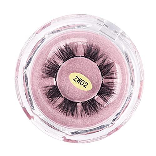 NiceJoy Falsche Wimpern 3D Wiederverwendbare weiche segmentierte Wimpern gefälschte Nerz-Mink-Augen-Wimpern ZW02 für Frauen Männer