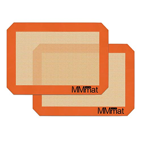 MMmat Silicone Baking Mats for Quarter Sheet - Best German Silicone - Set of 2