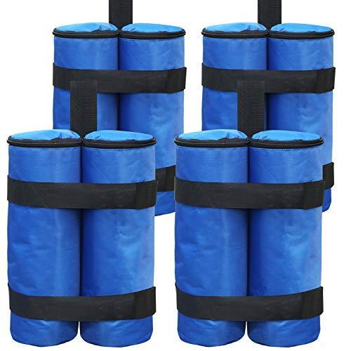 ABCCANOPY Pesos de grado industrial para patas de carpa, paraguas de patio, muebles de exterior, paquete de 4 unidades