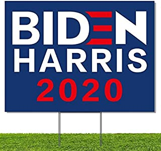 WENWELL Biden Harris 2020 Yard Signs with H-Frames Stake,President Election Banner 12x 18 Corrugated Plastic Political Campaign Garden Sign,Double-Sided Sign Outdoor, Waterproof - Front & Back