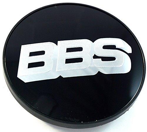 BBS Felgendeckel Emblem Schwarz Chrom Silber 70mm BB0924494 NEU mit Sprengring