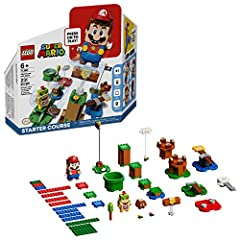 Fans can begin exploring the fun-packed LEGO Super Mario universe with this Adventures with Mario Starter Course 71360, featuring 7 action bricks for different interactions with the LEGO Mario figure LEGO Mario has a color sensor, plus LCD screens in...