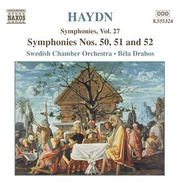 HAYDN: Symphonies, Vol. 27 (Nos. 50, 51, 52)