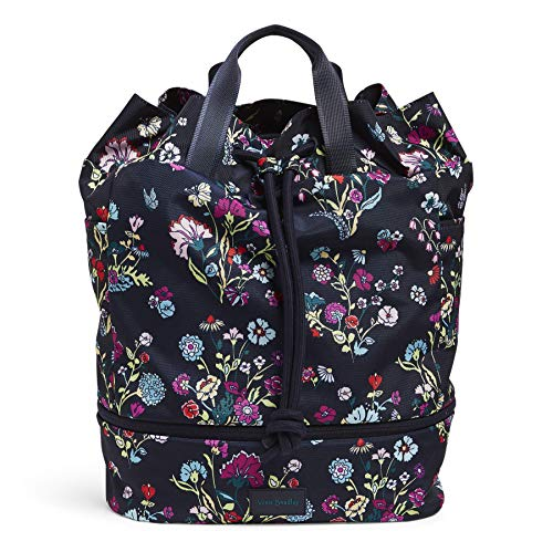 Vera Bradley Women's Recycled Lighten Up ReActive Sport Gym Bag, Itsy Ditsy Floral