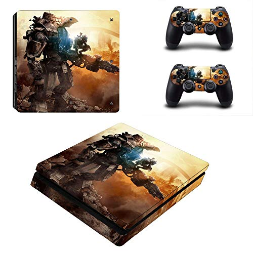 TSWEET Titanfall 2 Decal Ps4 Slim Skin Sticker for Playstation 4 Console and 2 Controllers Ps4 Slim Skin Sticker Vinyl