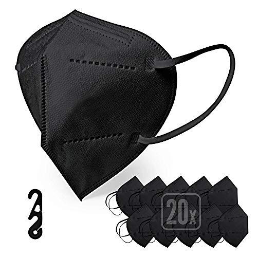 ENERGY BALANCE Mascarilla FFP2 color Negra caja de 20u. certificación CE (20 Black)