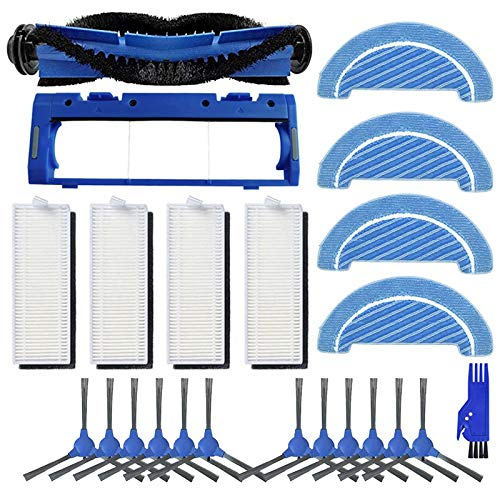 Accesorios de aspiradora Reemplazo de filtro HEPA Pincel de rodillo principal Cepillo de trapeador Cepillos laterales Ajuste para conga 1090 Robot Accesorios de piezas de aspiradora ( Color : Blue )