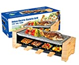 Artestia Electric Raclette Grill with High Density Granite Grill Stone,1450W High Power ETL...