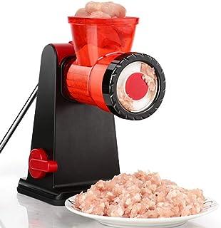TAMUME Máquina de Picar Carne Picadora de Acero Inoxidable con Embutidora de Salchicha, Procesador de