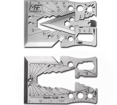 Credit Card Survival Arrow Head Axe Multi Tool Adventur 2.0 30+ tools in 1 by MRF Multitool from MRF Multitools