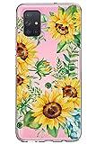 Oihxse Cristal Funda para Samsung Galaxy S4 Transparente Suave TPU Flores Girasoles Amarillos Dibujo Diseño Serie Carcasa Flexible Bumper Anti-Choque Anti-Arañazos Protector (D1)