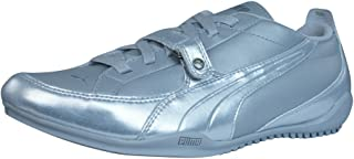 PUMA Berlin Metallic Womens Leather Trainers/Shoes - Silver