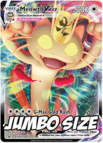 Jumbo Pokemon Card - Meowth VMAX SWSH005