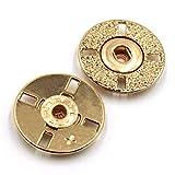 EWFD 10 Unids/Set Botones a Presión Redondos De Metal Accesorios De Suministros De Artesanía De Costura SuéTer Invisible/Botón De Abrigo 21mm 10pcsgoldbutton