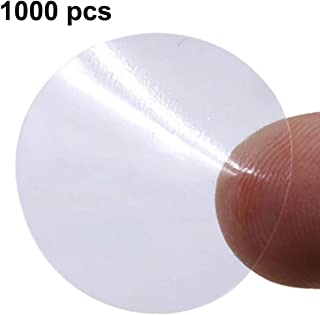 """TIENO Clear Seal Label Sticker 1"""" Round Mailing Envelopes Adhesive Labels 1000 Pcs"""