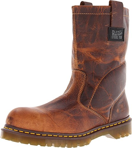 Dr. Martens - Men's Icon 2295 Steel Toe Heavy Industry Boots, Tan, 10 M US