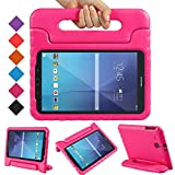 BMOUO Kids Case for Samsung Galaxy Tab E 9.6 - Shockproof Light Weight Protection Convertible Handle Stand Kids Case for Samsung Galaxy Tab E / Tab E Nook 9.6 Inch 2015 Tablet , Rose