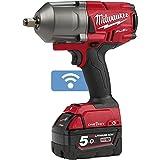 Milwaukee Fuel One Key M18 ONEFHIWF12-502X  2 bateras 18 V 5 Ah  1 Cargador M12-18FC 4933459727, Multicolor