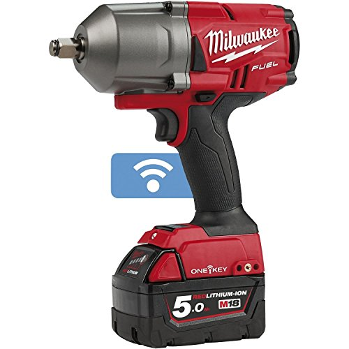 Milwaukee 4933459727 Avvitatore impulsi HP 18V 1/2 5,0Ah Fuel One Key, Multi, 18 V