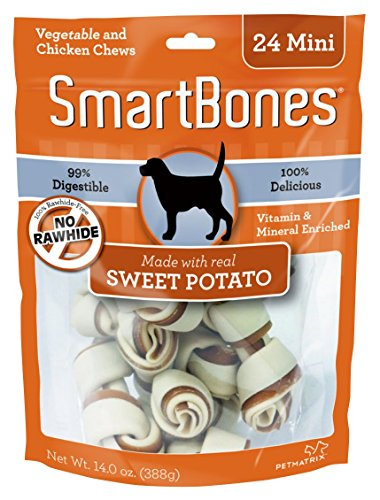 SmartBones SBSP-02002 Mini Sweet Potato Chews (24 Pack)