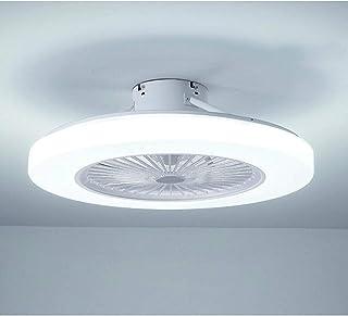 58cm Lustre Plafonnier Ventilateur De Plafond Led Lumière Ventilateur De Plafond Réglable 3 Vitesses De Vent 36w Télécomma...