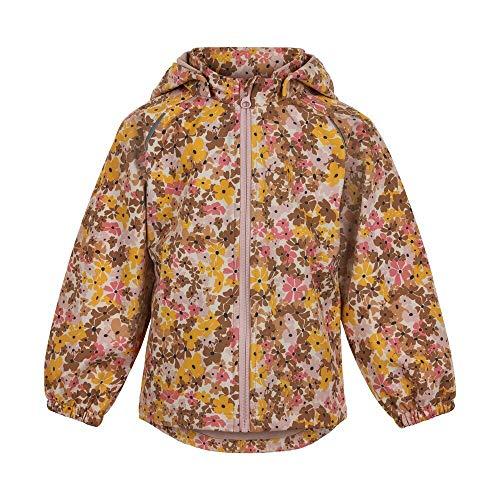 MINYMO Girls Softshell with Print Shell Jacket, Rose Smoke, 104