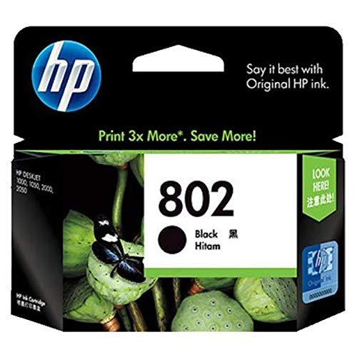 HP 802 Ink Cartridge - Black (CH563ZZ)