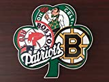 Boston Guy Sports Teams England Patriots Red Sox Bruins Celtics Mash Up Laptop iPad Car Window Vinyl Sticker Decal' Buy 3 get 1 Free!'