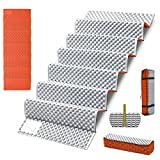Moisture-Proof Foldable Sleeping Pad Lightweight Sleeping Mat for Camping Hiking Backpacking Soft Compact Cushion Outdoor Mattress Orange