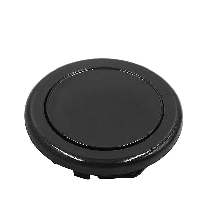 uxcell 61mm Diameter Black Racing Car Steering Wheel Horn Button Cover Protector