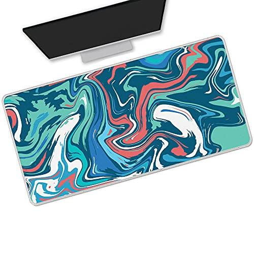 Alfombrilla De Ratón Azul Grande Strata Liquid Abstract Gaming Ordenador Protector De Escritorio Alfombrilla De Teclado Portátil Impermeable L