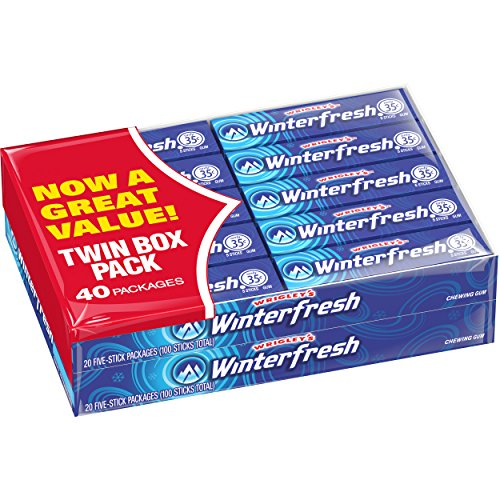 Wrigley's Winterfresh Gum, 5 Count, Pack of 40 S&S $6.6