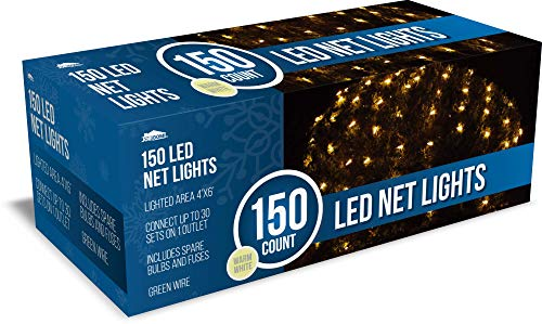 Joiedomi 150 LED Christmas Net Lights for Indoor & Outdoor Decorations, Christmas Events, Christmas Eve Night Decor, Christmas Tree, Bushes(Warm White)