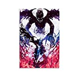 ZUNZUN Asta Black Clover - Poster decorativo da parete per soggiorno, camera da letto, 12 x 18 pollici (30 x 45 cm)