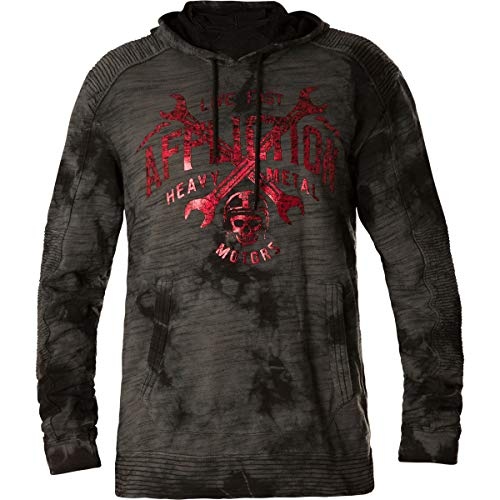 Affliction Hoody High Speed Weld Dunkelgrau, M