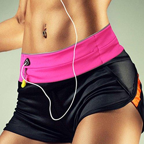 LYFLYF Extérieur Sports Hommes Et Femmes Course à Pied Multifonctions Téléphone Cellulaire Yoga Ceinture Waist Packs Sac,Pink-L