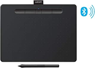 """Wacom Intuos Wireless Graphics Drawing Tablet with 3 Bonus Software Included, 10.4"""" X 7.8"""", Black (CTL6100WLK0)"""
