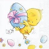 20 tovaglioli Easter Run – Rapido per la festa pasquale / pulcini / Pasqua 33 x 33 cm