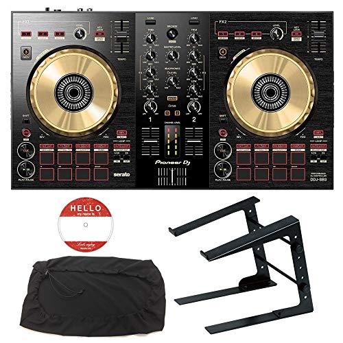 Pioneer DJ DJコントローラー DDJ-SB3-N + ラップトップPCスタンド セット (オリジナルステッカー付き)