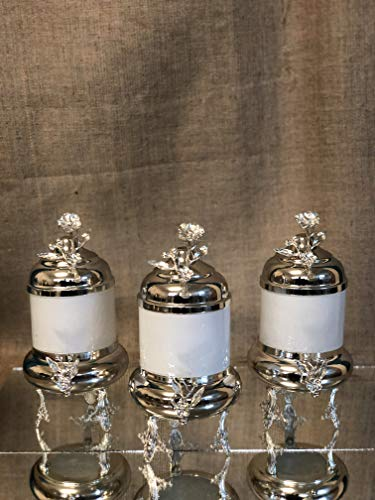 Fantastic Deal! Set of 3 Canister Set, Candy Buffet, Glass Cookie Jar, Pot, Jars, Container, Caniste...