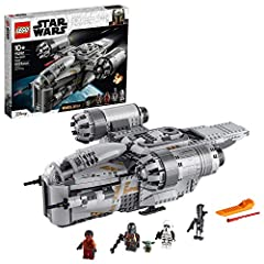 Kids can role-play as heroic warrior The Mandalorian and play out action-packed Star Wars: The Mandalorian scenes with this detailed, LEGO brick model of The Razor Crest (75292) starship This fun buildable toy includes 4 LEGO minifigures: The Mandalo...