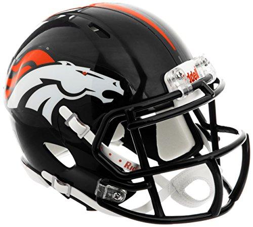 Riddell Football Speed Mini Helm Denver Broncos, Einheitsgröße, Schwarz