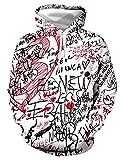 WBYFDC Sudaderas con Capucha De Tinta De Impresión 3D Uniforme De Béisbol Hombres / Mujeres Sudadera Casual Sudaderas con Cuello Redondo Otoño Invierno Pullover