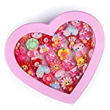 Aizelx Kids Girls Cartoon Fancy Finger Rings for Birthday Gifts Comes in Pink