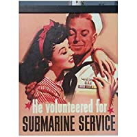 Rzhss 潜水艦サービスに参加する特典米国第二次世界大戦プロパガンダレトロヴィンテージポスターキャンバス絵画家の装飾ギフトキャンバスに印刷-50X70Cmフレームなし