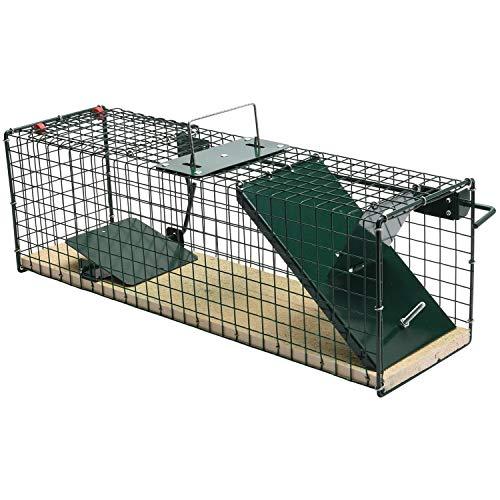 Moorland Trappola Cattura Animali vivi Safe 6041-55x15x19 Pavimento in Legno Gabbia per Caccia Animali Piccola Taglia