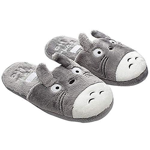 GLEYDY Hausschuhe Damen Tiere Plüsch Pantoffeln mit Cartoon Totoro Winter Indoor Warme Slippers Herren,003,38/39EU