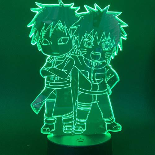 Jiushixw 3D acryl nachtlampje met afstandsbediening, tafellamp, kleur Anime Japan, cadeau voor kinderen, tafel met Turkse lamp