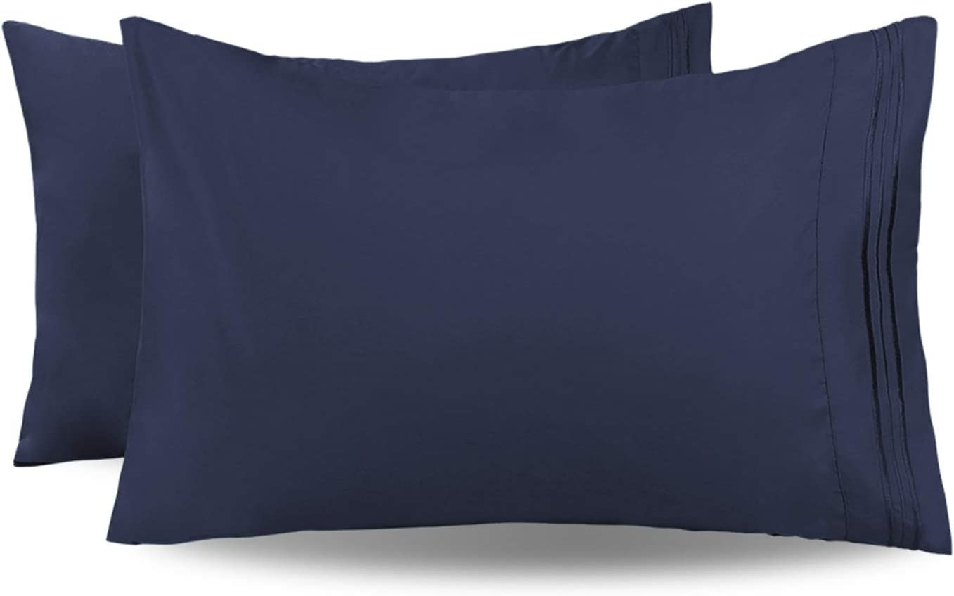 JSD Soft Brushed Microfiber Tampa Mall sold out Standard Embroide Queen Pillowcases